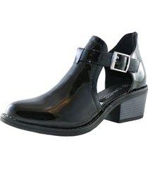 zapato abierto charol black danicolle