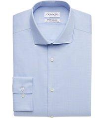 calvin klein infinite non-iron blue stone woven stripe slim fit dress shirt