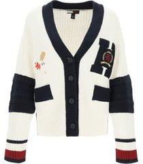 tommy hilfiger letterman knit cardigan