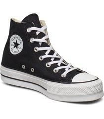 chuck taylor all star lift höga sneakers svart converse