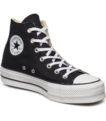 chuck taylor all star lift höga sneakers svart converse