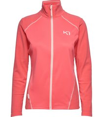 kari f/z fleece sweat-shirt tröja rosa kari traa
