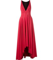 eva v-neck long dress - pink