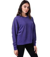 womens karla embroidered crew sweatshirt