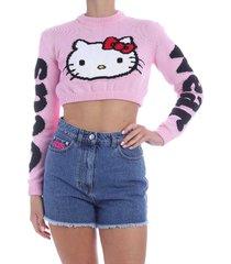 gcds hello kitty crop sweater