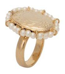 anel feminino aurea - dourado