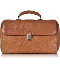 robe di firenze designer travel bags, brown medium genuine italian leather doctor bag