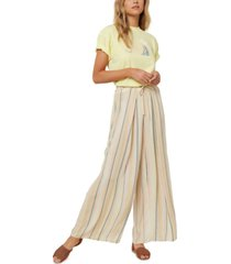 o'neill juniors' anthia striped wide-leg pants