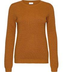 vichassa l/s knit top-noos stickad tröja orange vila