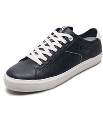 tenis lifestyle azul navy-blanco levis woodward l