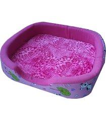 cama para perros tipo cuna mediana - rosa