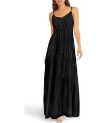 women's bb dakota by steve madden been so long tiered dress, size medium - black