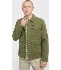 lyle & scott utility jacket jackor green