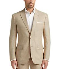 joe joseph abboud tan chambray linen slim fit suit separates coat