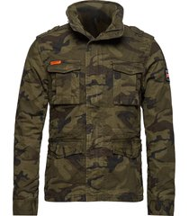 classic rookie military jacket dun jack groen superdry