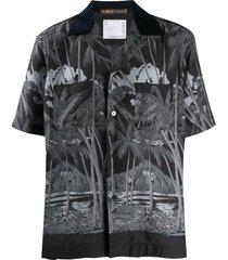sacai diamond head loose-fit shirt - black