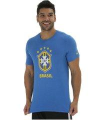 camiseta da seleção brasileira evergreen nike - masculina - azul
