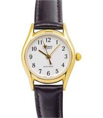 reloj casio ltp_1094q_7b4r marrón cuero