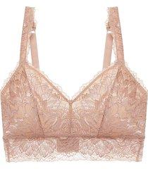 cosabella women's lace bralette - blush - size m