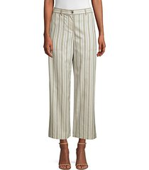 fulton cropped wide leg striped pants