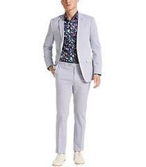 paisley & gray slim fit suit separates jacket blue seersucker
