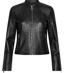 slfibi leather jacket b noos leren jack leren jas zwart selected femme