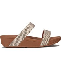 womens lottie glitter stripe slide sandals