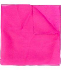 blumarine studded logo silk scarf - pink