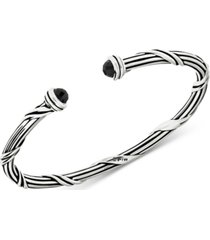 peter thomas roth onyx cuff bracelet (2-1/6 ct. t.w.) in sterling silver