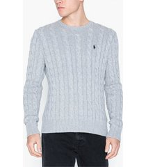 polo ralph lauren cotton cable sweater tröjor grey