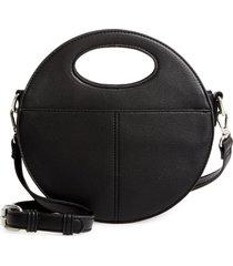 sole society jane faux leather crossbody bag - black