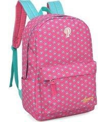 mochila juvenil princess - feminino