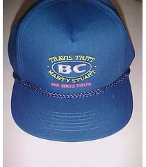 travis tritt marty stuart bc no hats tours blue trucker cap hat one size new