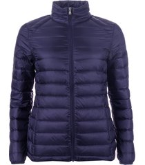 harvey and jones womens lightweight down jacket size 14 in blue