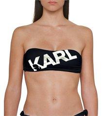 bikini top printed logo