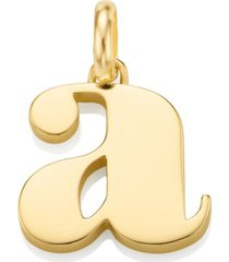 alphabet pendant a, gold vermeil on silver