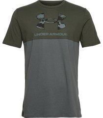 ua camo big logo ss t-shirts short-sleeved grön under armour