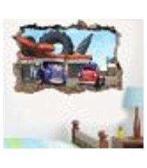 adesivo buraco na parede trucktown modelo 3 - es 93x144cm