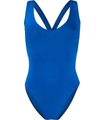 sian swimwear lorna twisted strap swimsuit - blue