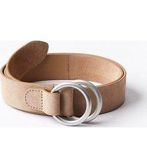 loft double ring suede waist belt