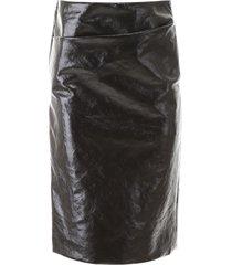 lemaire vinyl skirt