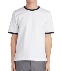 men's thom browne ringer wool t-shirt, size 1(s) - white