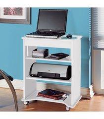 mesa escrivaninha tampo portatil branco - artely