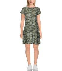ruby rd. petite camouflage t-shirt dress