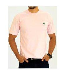 camiseta pau a pique básica rosa