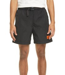 men's heron preston buckle waist nylon shorts