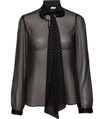 peony blouse blouse lange mouwen zwart ida sjöstedt