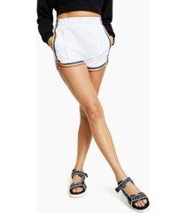 guess cotton rainbow-trim shorts