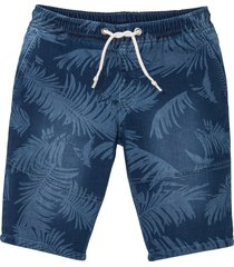 bermuda in felpa effetto jeans regular fit (blu) - rainbow