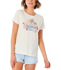 rip curl juniors' blossom scenic cotton t-shirt